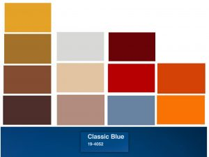 albastru clasic combinatie alte culori
