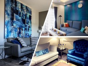 albastrul clasic in amenajari interioare - culoarea anului 2020
